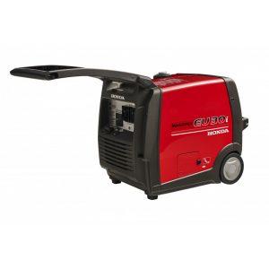 small generator machine with black handle