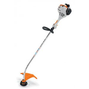 electric grass trimmer with loop handle