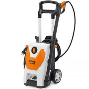 medium size machine cleaner with a silver handle and hose or cable holder
