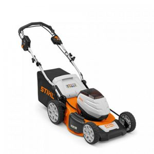 hand held lawn mower with rollers