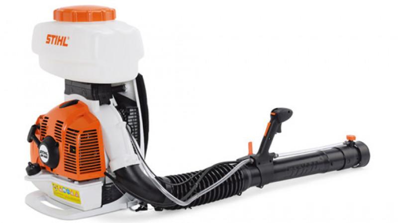 small machine with short black hose