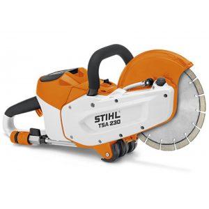 machine with a cutting wheel