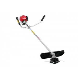 red electric grass trimmer with bike handle