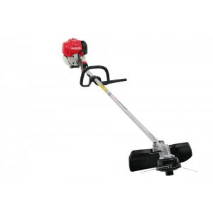 red electric grass trimmer machine with loop handle
