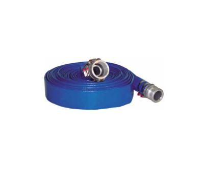 long blue lay flat hose