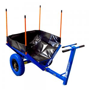 small black multi purpose bag on a trolley
