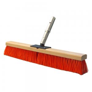 red bristled push brush