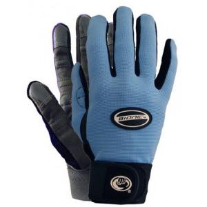blue and black bionic bloom gloves