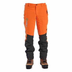 men's orange chainsaw pants