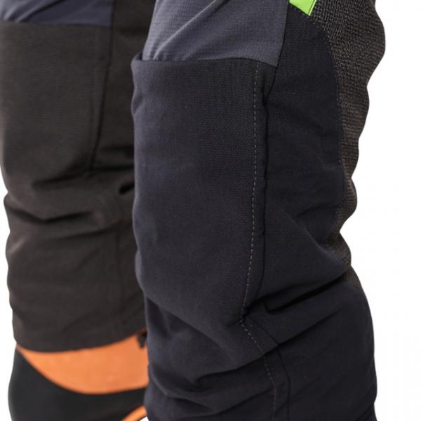 black textile pants