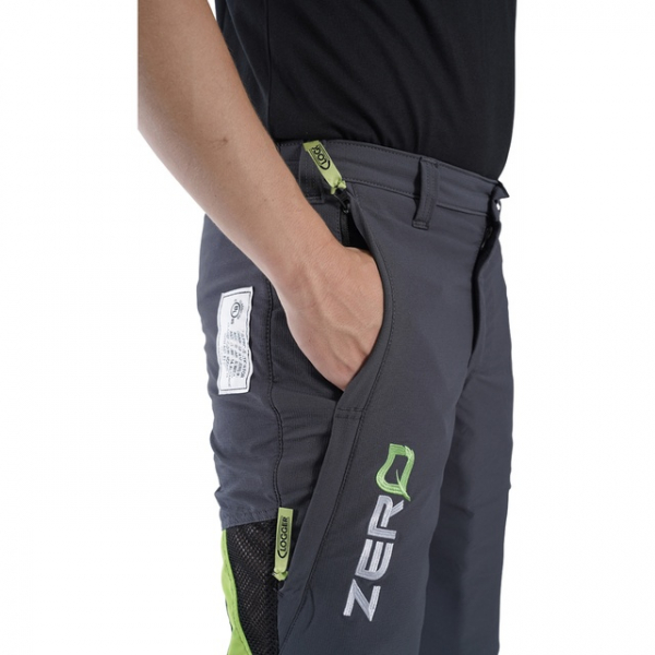 men's grey and green trousers side pockets