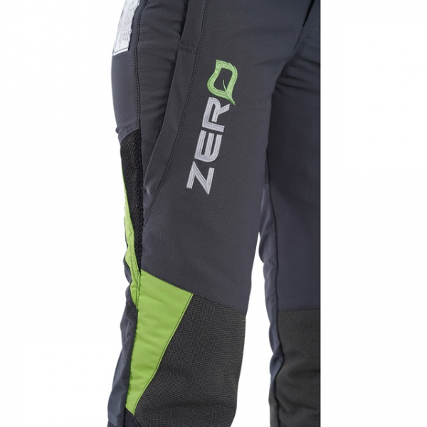 women's grey and green chainsaw trouser