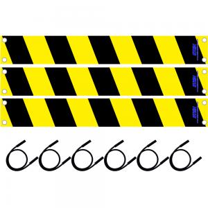 black and yellow hazard kit