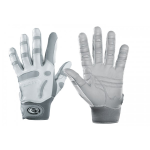 women's grey and white golf gloves