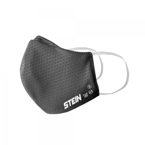 small grey 3-layer safe mask