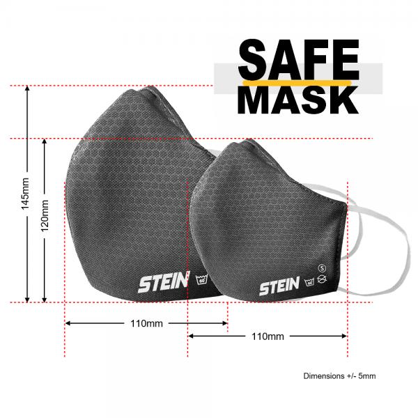 adult grey 3-layer safe mask