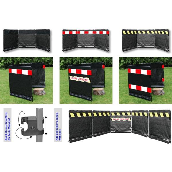 black modular guarding panel with highway kit