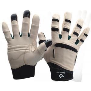 men's black and white brelief gloves