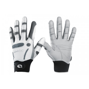 men's white and grey golf gloves