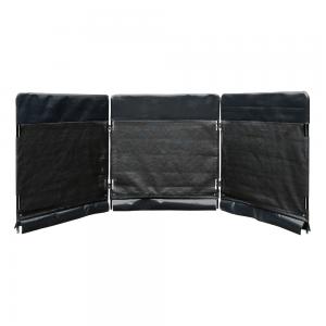 black plain modular guarding system