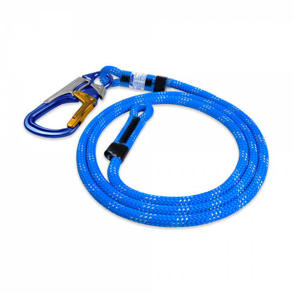 blue rope with 3-way snap