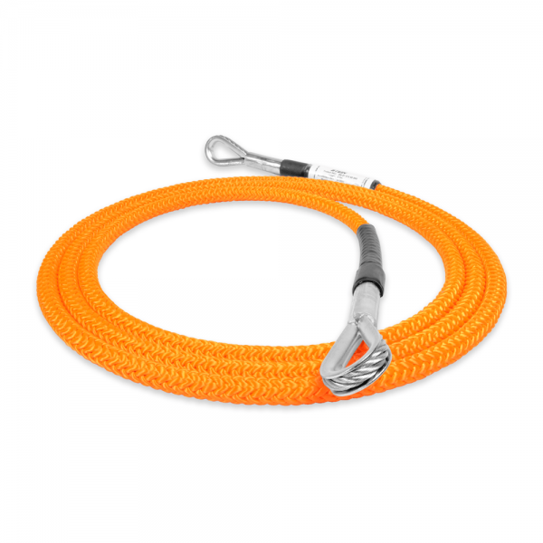 orange rope with two holes