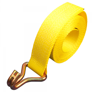 yellow nylon webbing with inverted hook