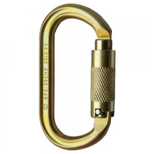 gold steel karabiner