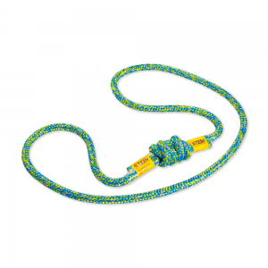 blue and yellow tied rope