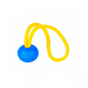 yellow string with blue ball