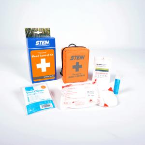 orange bag with bleed control kit
