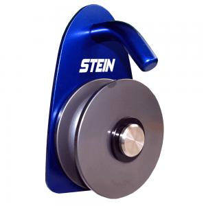 blue metal pulley