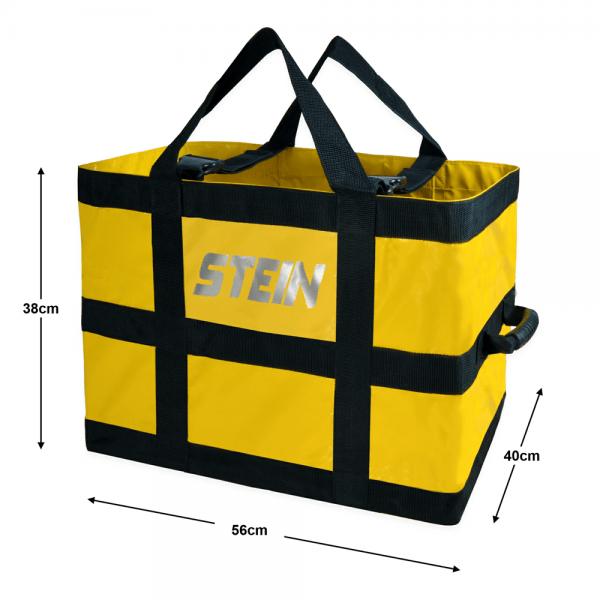 black and yellow rigging set bag