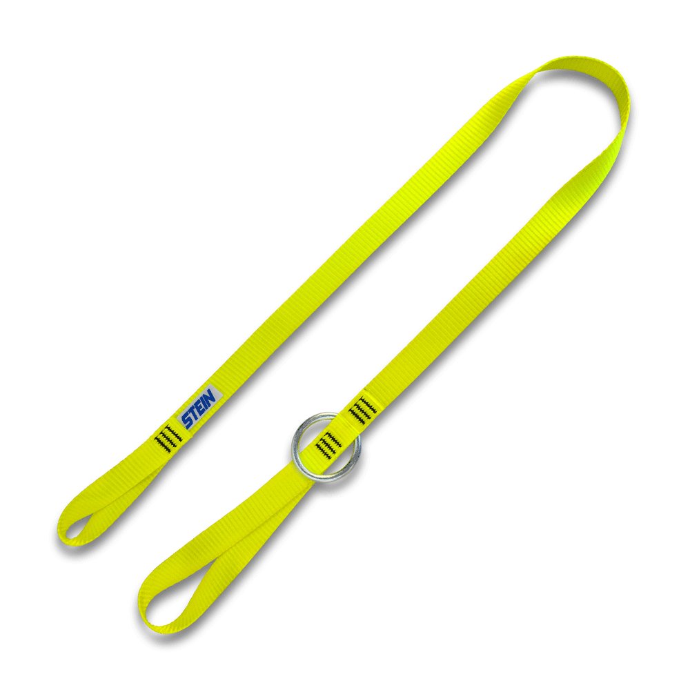 yellow lanyard with small ring