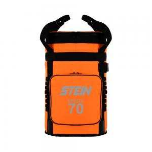 orange utility storage bag with straps