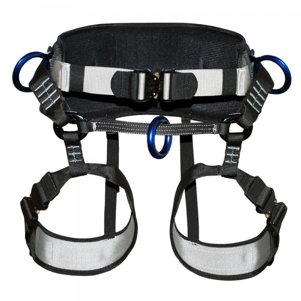 black climbing harness