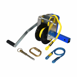 winch kit with handle, rope and clip hook