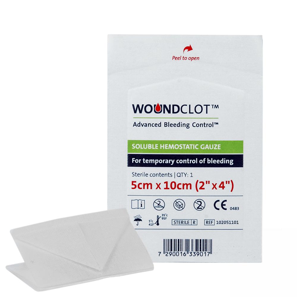 woundclot abc gauze pack 5cm x 10cm