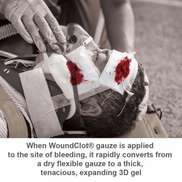 woundclot abc gauze instruction sheet