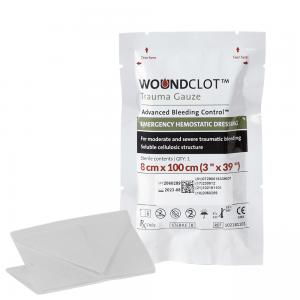 woundclot trauma gauze pack 8cm x 100cm