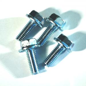 four small metal screws