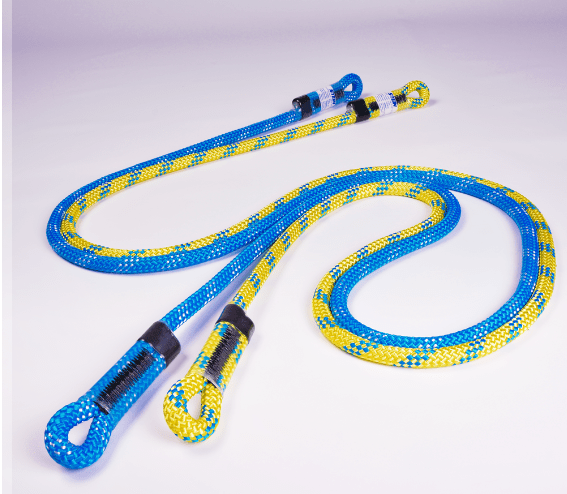 two blue and yellow ropes