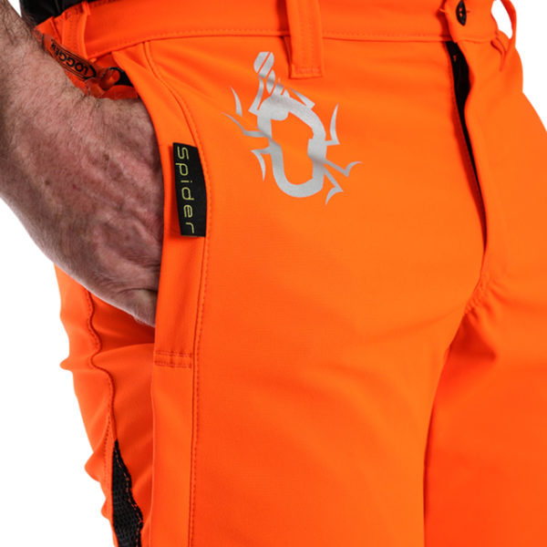 orange climbing pants