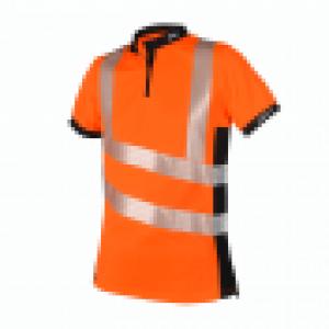 orange hi viz short sleeves with reflectors