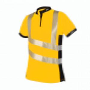 yellow hi viz short sleeves with reflectors