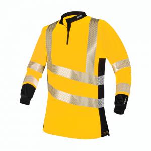 yellow hi viz long sleeves with reflectors