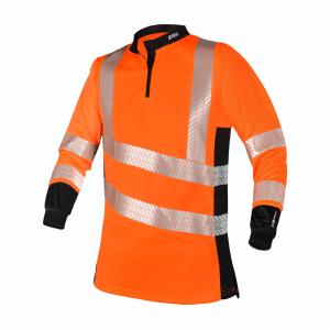 orange hi viz long sleeves with reflectors
