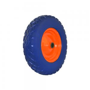 blue and orange round wheel