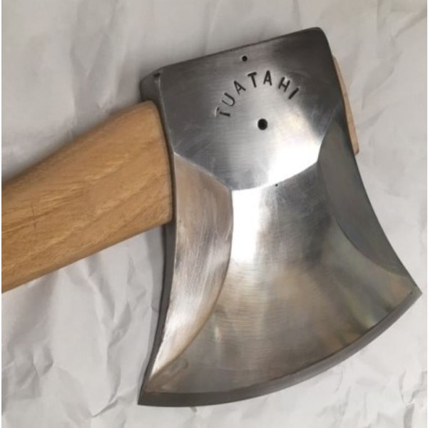 training axe with brown handle