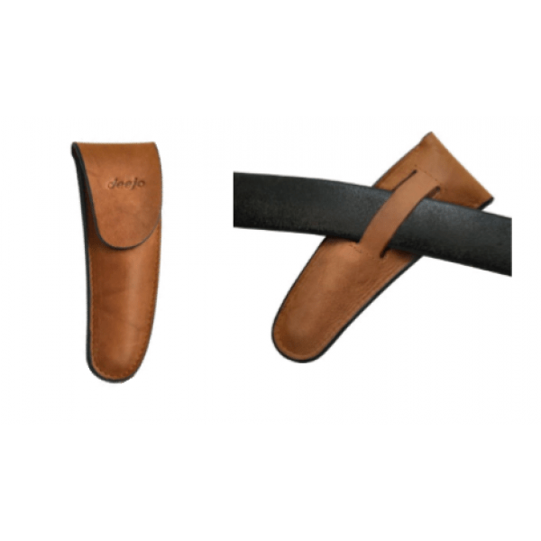 brown sheath leather with belt